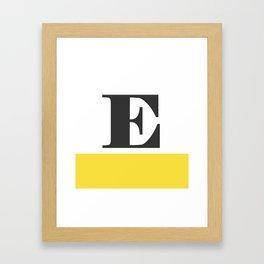 Monogram Letter E-Pantone-Buttercup Framed Art Print