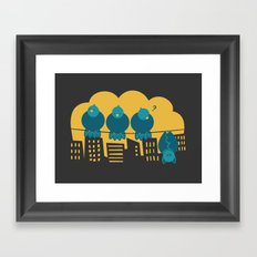 Three plus one Framed Art Print