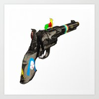 hippy Art Prints featuring HIPPY GUN by kasi minami