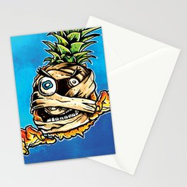 Mummified Pineapple Monster Stationery Cards