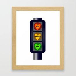 Yes No Maybe Traffic Lights Framed Art Print