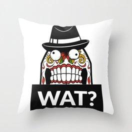 Scary Face - WAT? Throw Pillow