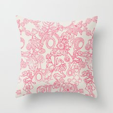 Charming Pink Throw Pillow