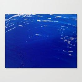 Neon Blue Ocean Canvas Print
