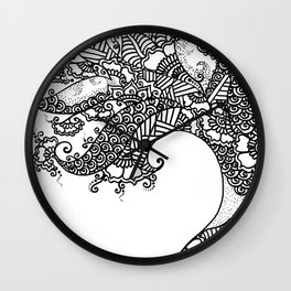 Zen Tree Rebirth White Left Half Wall Clock