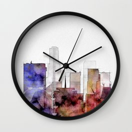 Los Angels cityscape art - California Wall Clock