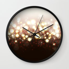 Stars Can't Shine Without Darkness sparkly lights stardust and fireworks art Wall Clock