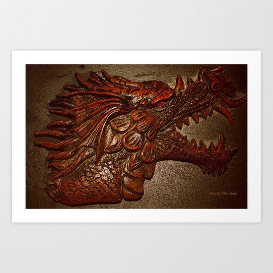 YEAR OF THE DRAGON.. Art Print