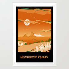 Monument Moon Art Print