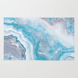 Ocean Foam Mermaid Marble Rug