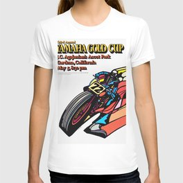 Vintage 70s Californian Race poster T-shirt