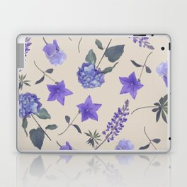seamless   pattern of blue flowers . Endless texture Laptop & iPad Skin