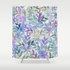 watercolor Botanical garden Shower Curtain