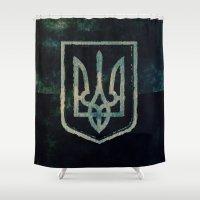 ukraine Shower Curtains featuring Ukraine by rudziox