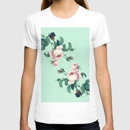 Roses Mint Green + Pink T-shirt