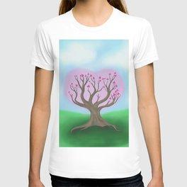 Circle Love Tree Blossom T-shirt