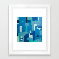 basketweaving underwater  Framed Art Print