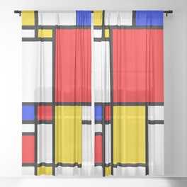 Piet Pattern Sheer Curtain