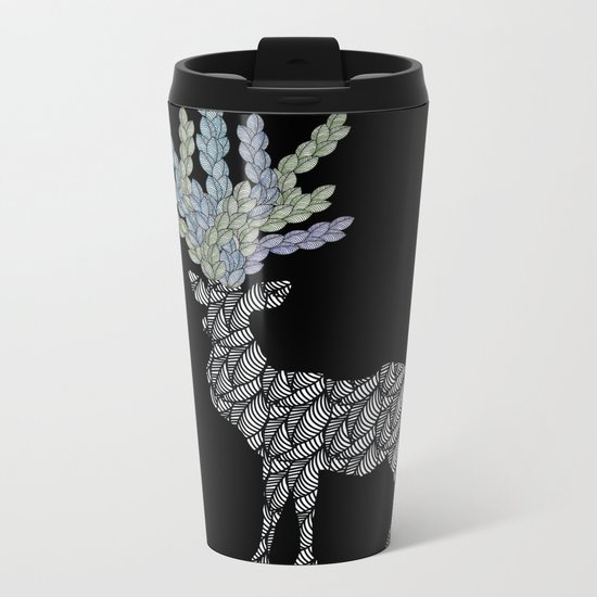 Deer Metal Travel Mug