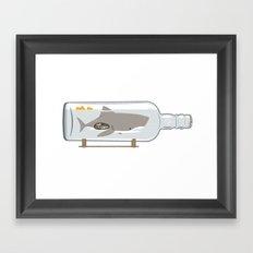 The Shark in a Bottle Framed Art Print