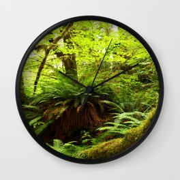 Rainforest Ferns Wall Clock