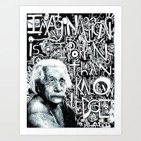 einstein Art Prints featuring Einstein.  by Will Santino