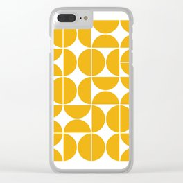 Mid Century Modern Geometric 04 Yellow Clear iPhone Case