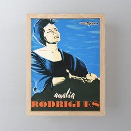 Retro Placard amalia rodrigues fado Framed Mini Art Print