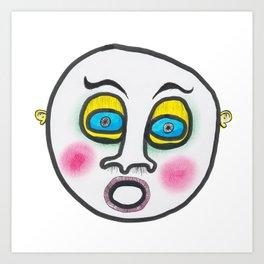 Blushing fool! Art Print