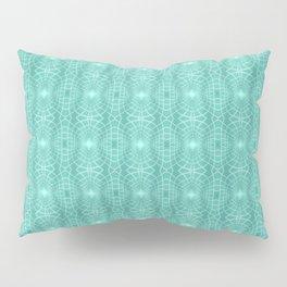Aqua Metallic Gossamer Web Digital Art Pillow Sham
