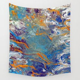 Fire and Ice 2 - Flow Acrylic Abstract Wall Tapestry