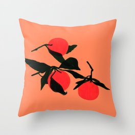 3 Clems Throw Pillow