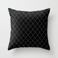 the wire Throw Pillows featuring Wire Fence by Crazy Thoom