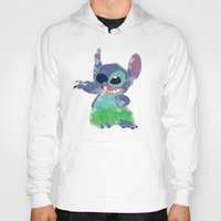 lilo and stitch Hoodies featuring Stitch  by Nic Moore
