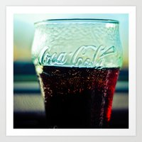 coke Art Prints featuring Coke  by Jo Bekah Photography