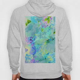 abstract floral Hoody