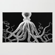 Octopus | Black and White Rug