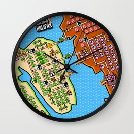 Super Map of Halifax Wall Clock