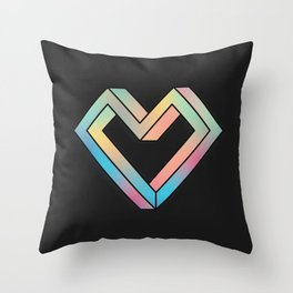 le coeur impossible (nº 4) Throw Pillow