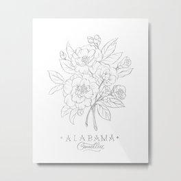 Alabama Sketch Metal Print