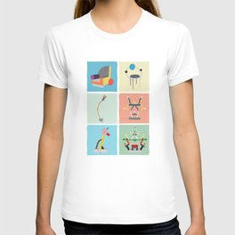 Ettore Sottsass Memphis Style lamps and furniture T-shirt