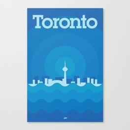 Toronto Minimalism Poster - Winter Blue Canvas Print