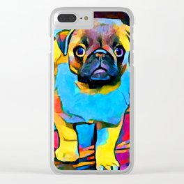 Pug 2 Clear iPhone Case