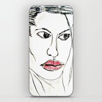 angelina jolie iPhone & iPod Skins featuring ANGELINA JOLIE by JANUARY FROST
