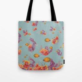 Orange Seaworld Pattern Tote Bag