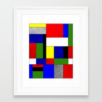 mondrian Framed Art Prints featuring Mondrian #4 by Ron Trickett (Rockett Graphics)