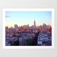 Empire State Building and the New York Skyline Art Print