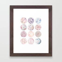 Microbe Collection Framed Art Print