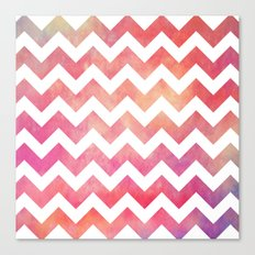 Watercolor Chevron. Canvas Print