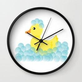 Rubber Ducky Bubbles Wall Clock